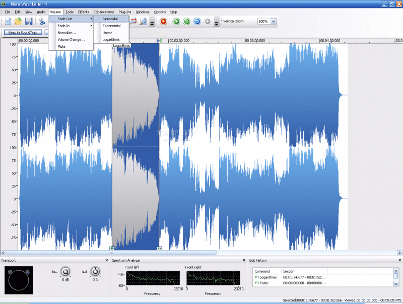 Nero Wave Editor es otro increíble editor de audio gratuito