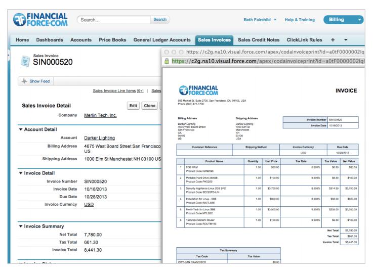 Software de facturación y facturación FinancialForce
