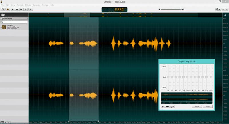 ocenaudio, un nuevo editor de audio gratuito