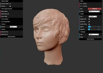 Imagen del mejor software de modelado 3D gratuito para principiantes: SculptGL