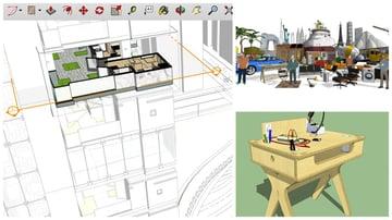 Imagen del mejor software de modelado 3D gratuito para principiantes: SketchUp Free