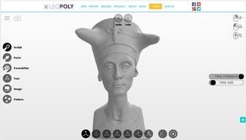Imagen del mejor software gratuito de modelado 3D para principiantes: Leopoly