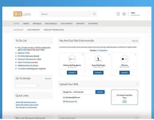 Software de facturación y facturación de Bill.com