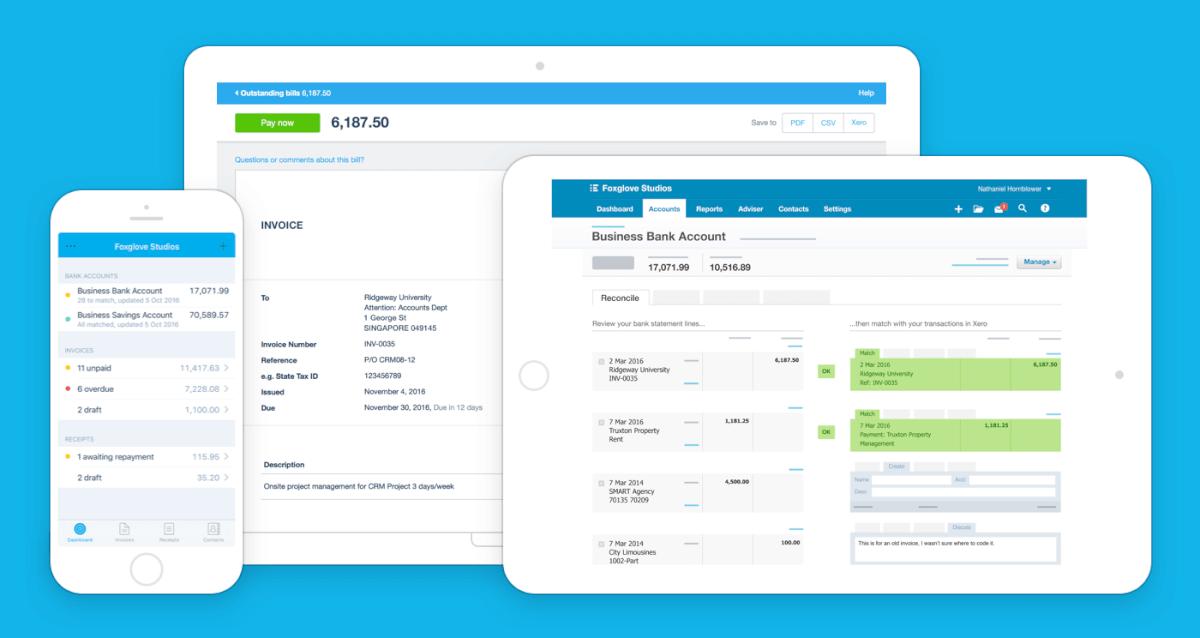 Software de facturación y facturación de Xero