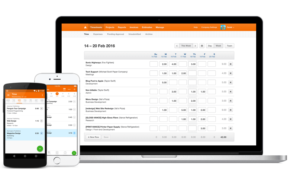 Software de facturación y facturación de Harvest