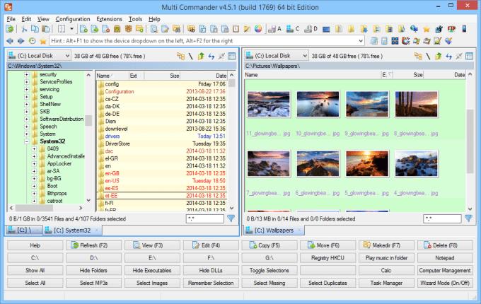 Multi-Commander es el mejor explorador de archivos para Windows