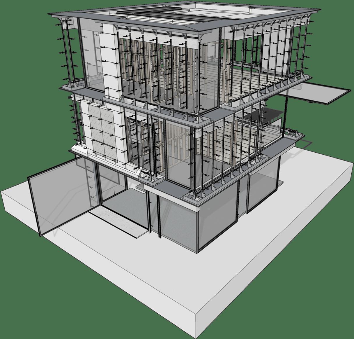 Modelo de construcción 3D en SketchUp