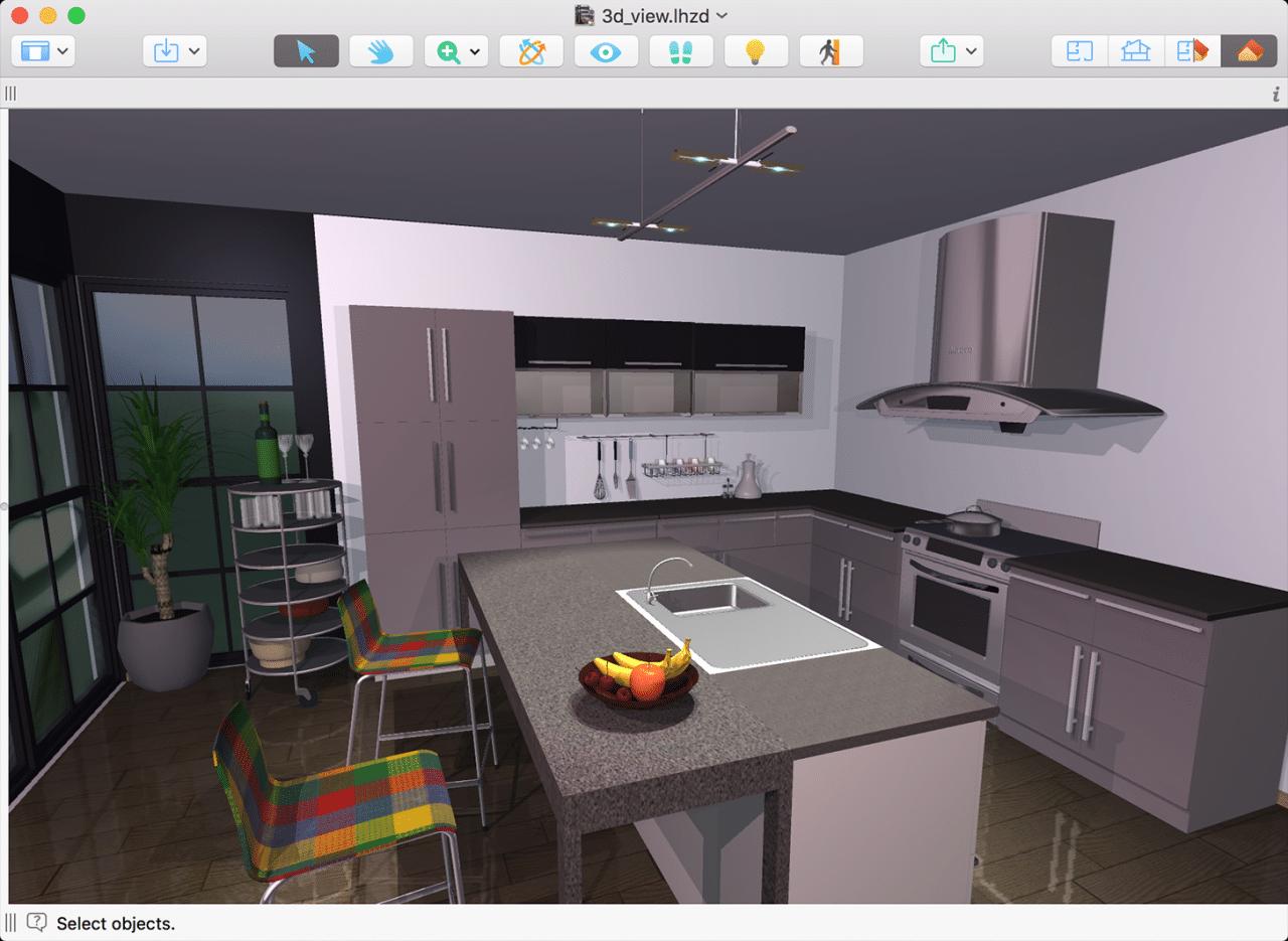 Vista 3D en Live Home 3D