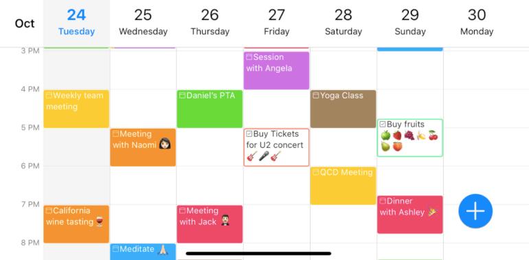 Software de calendario 24me