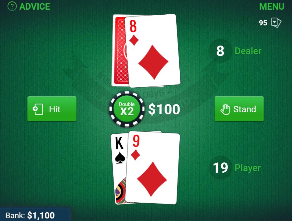 Arkadium tiene un gran juego de blackjack gratuito.