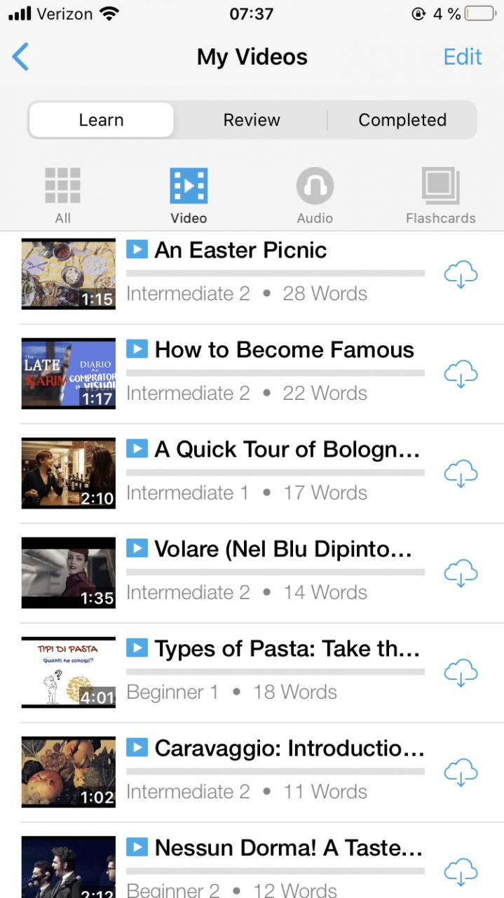 aprender-italiano-con-videos