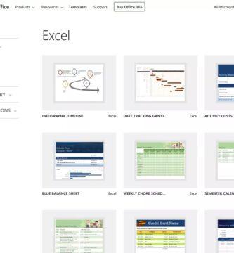 Plantillas de hojas de cálculo de Excel gratuitas de Microsoft