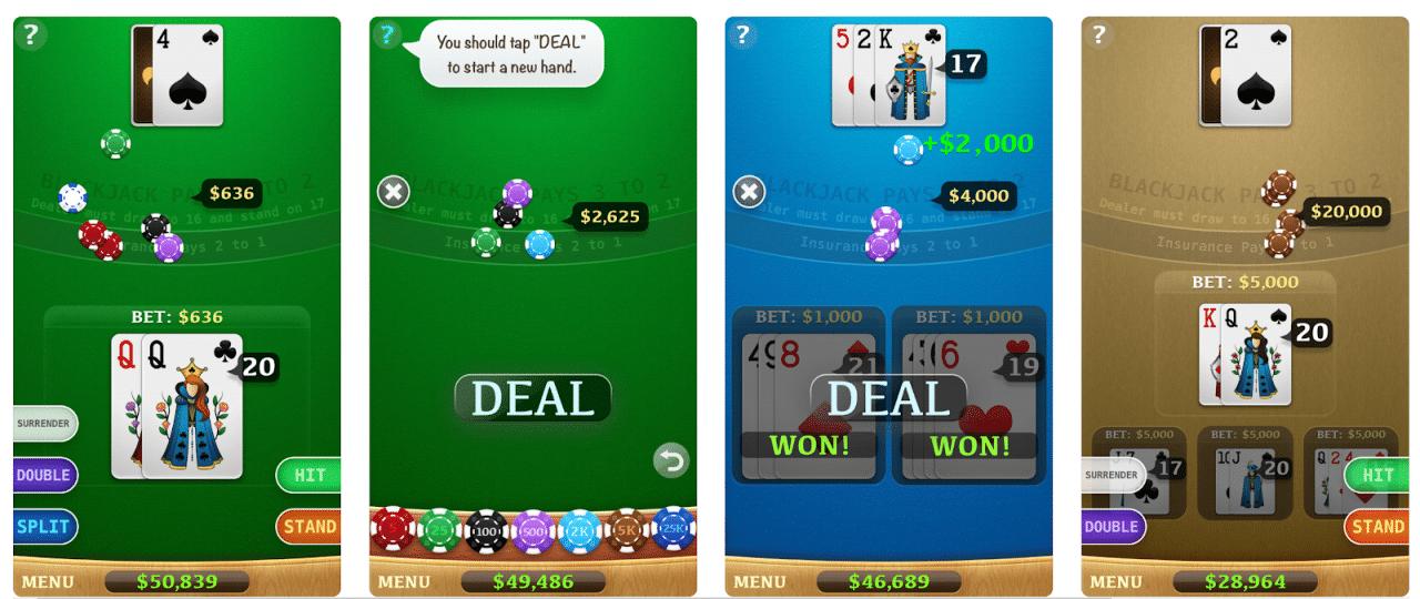 * Blackjack es una gran aplicación de blackjack gratuita.