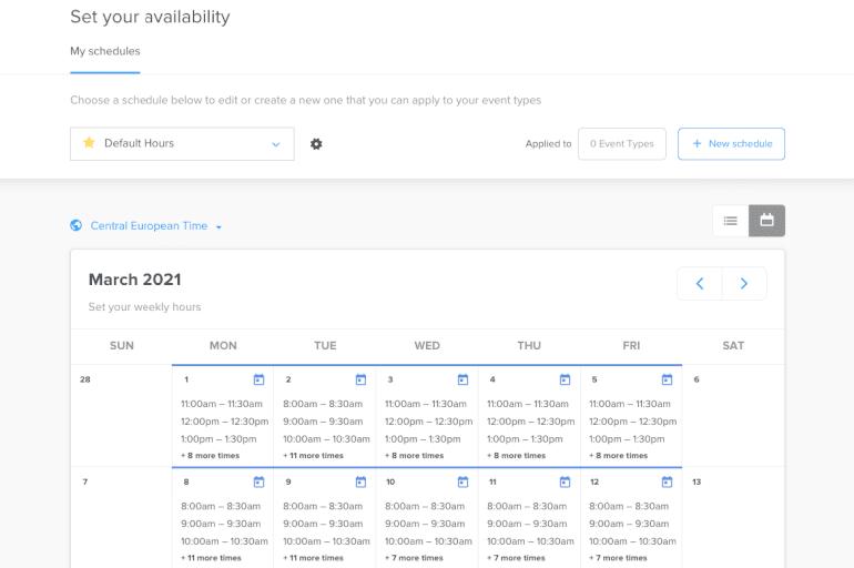 Software de calendario Calendly