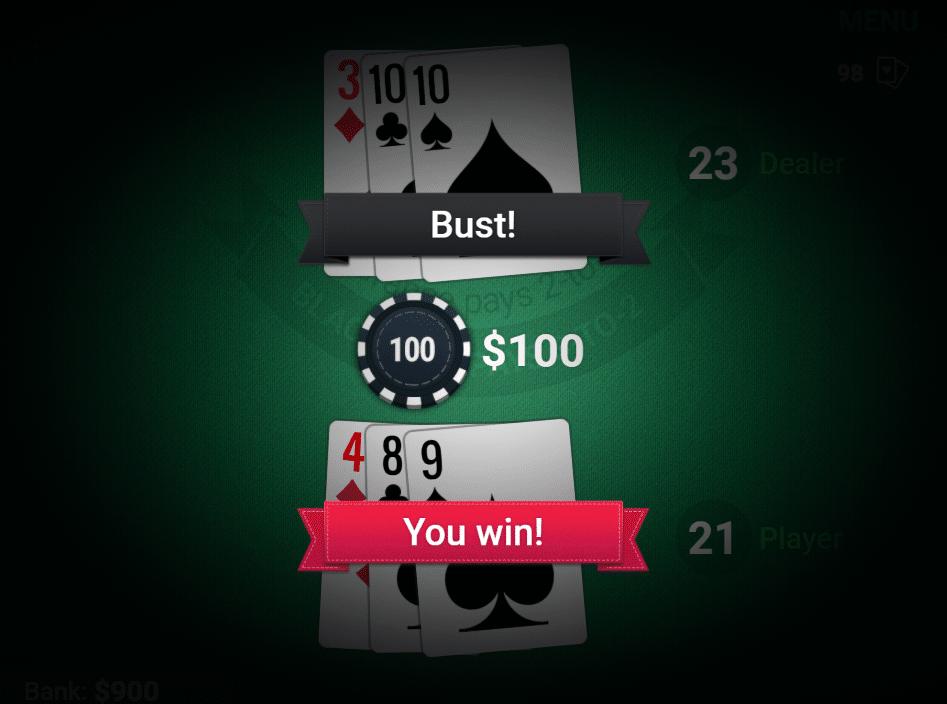 El Express tiene un gran juego de blackjack gratuito.
