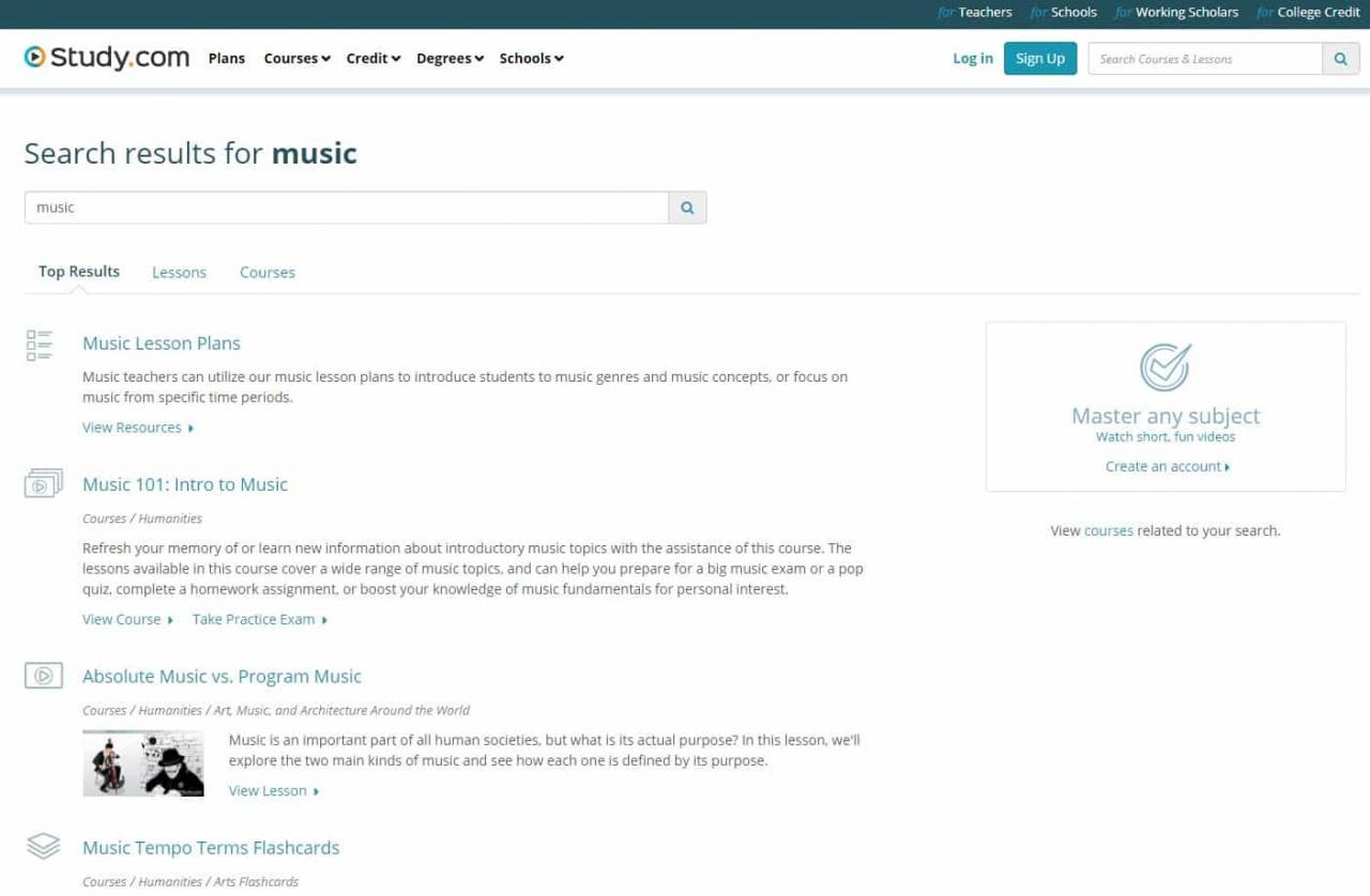 Estudiar Aprender lecciones de música en línea