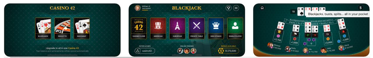 Blackjack 42 es una gran aplicación de blackjack gratuita.