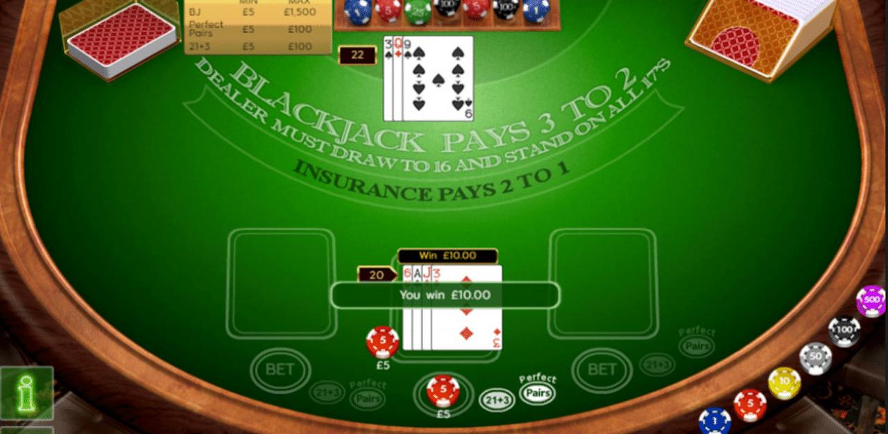 888 tiene un gran juego de blackjack gratuito.