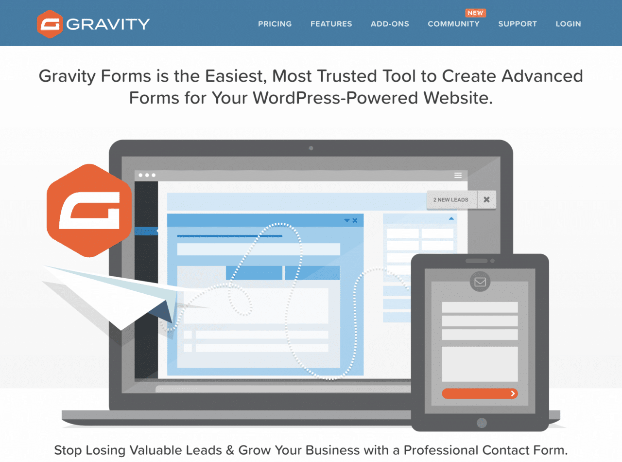 Gravity Forms, uno de los mejores complementos de WordPress para crear formularios