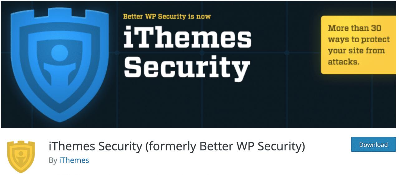 Complemento iThemes Security (anteriormente Better WP Security) en el repositorio oficial de WordPress