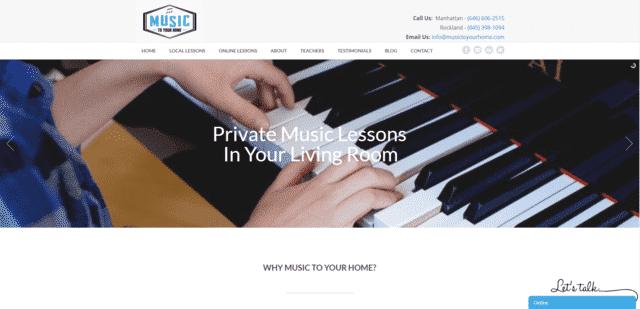 MusicToYourHome Aprenda lecciones de música en línea
