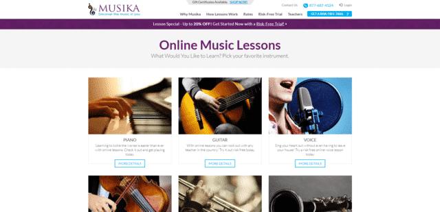 Musika Aprende lecciones de música en línea