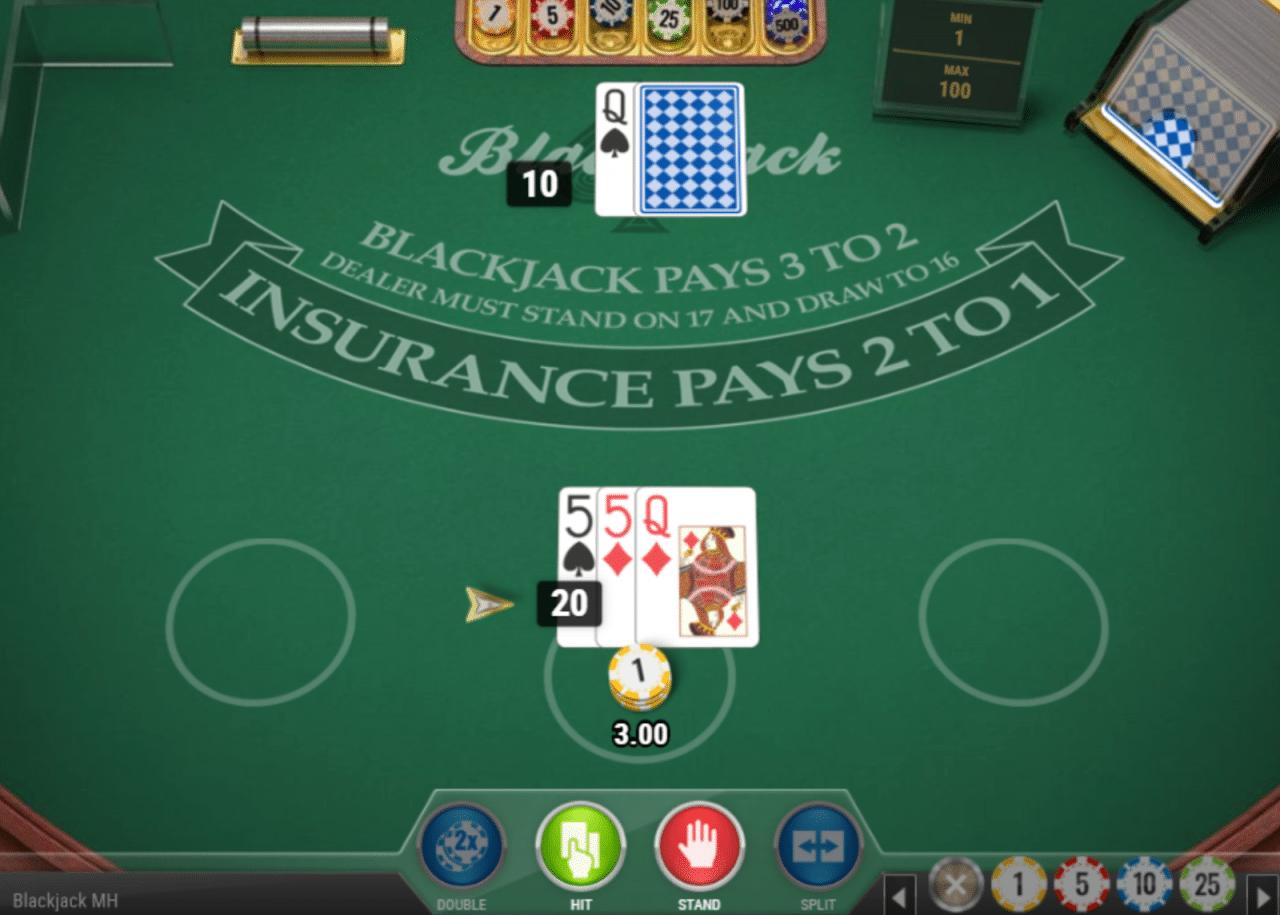 Dunder tiene una gran demostración gratuita de blackjack.