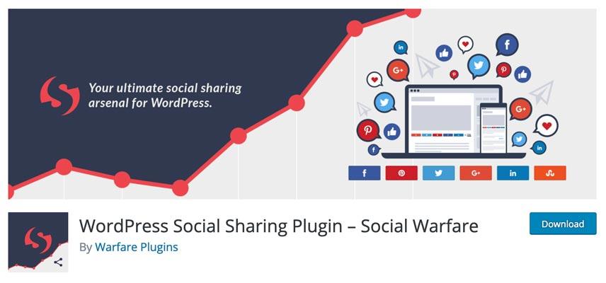 Complemento de WordPress para compartir en redes sociales: Social Warfare