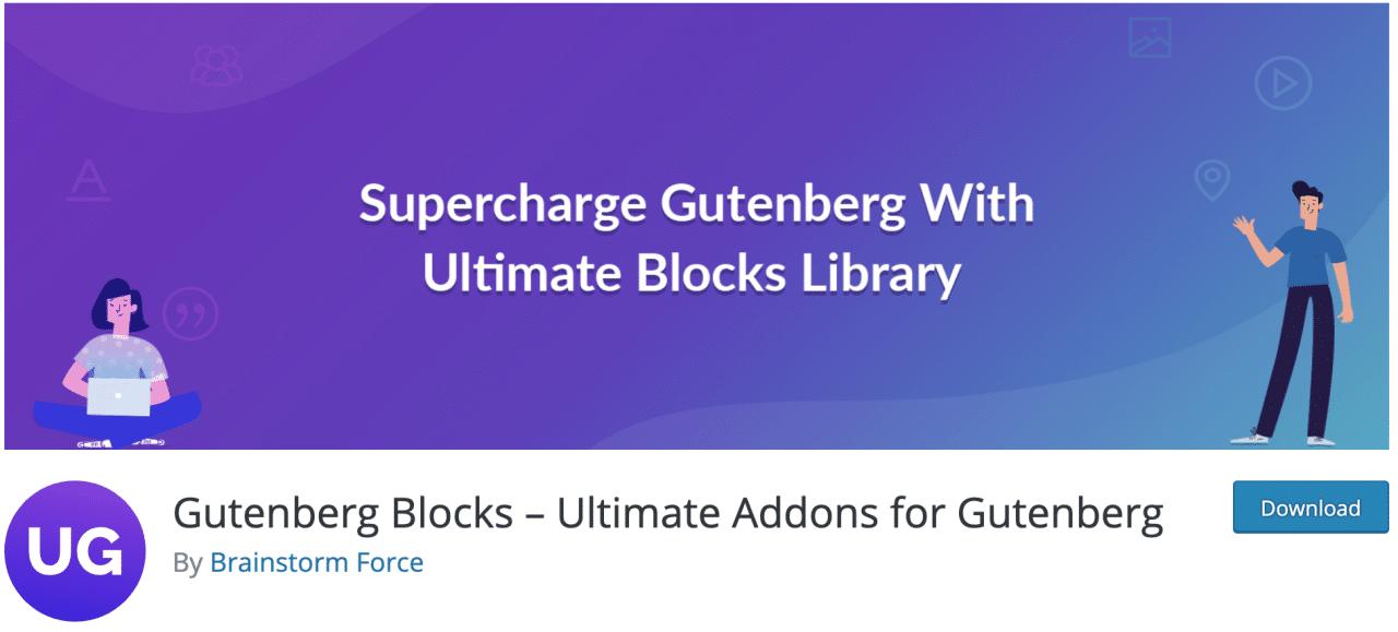 Gutenberg Blocks - Complementos definitivos para el complemento Gutenberg en el repositorio oficial de WordPress