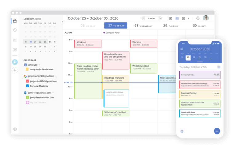 aplicación de calendario calendario