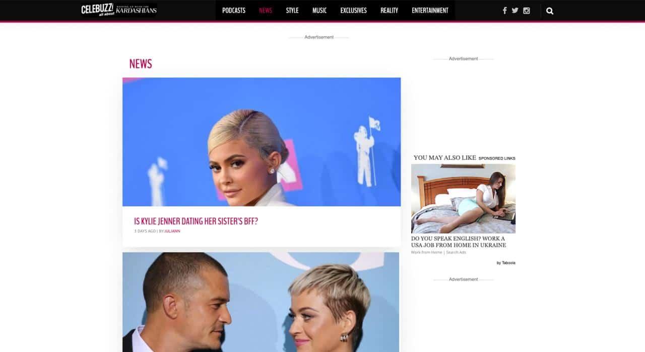 Celebuzz: sitios web divertidos para el aburrimiento