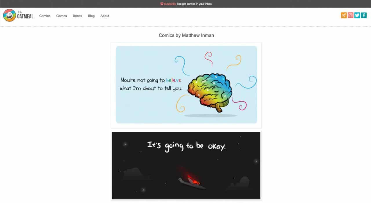 The Oatmeal: el mejor sitio web divertido